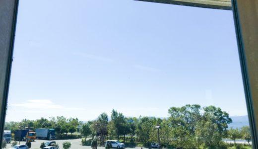 湖北みずどりステーション 2階の眺め