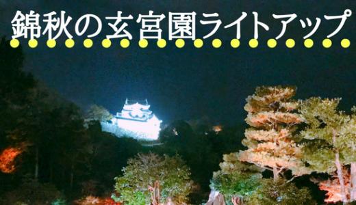 秋の夜を満喫する 錦秋の玄宮園ライトアップ