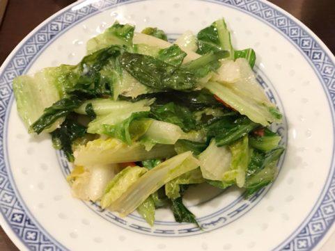 台湾料理「銭記」 青菜のソテー