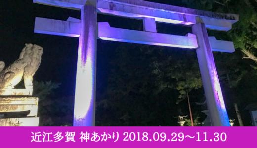夜の紅葉をライトアップで楽しむ「近江多賀 神あかり2018」