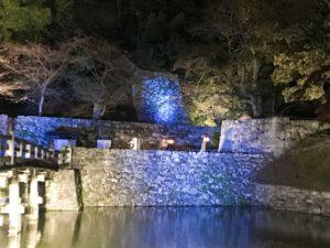 彦根城明かり2018 お堀沿い
