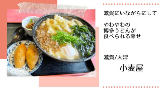 やわやわ・ふわふわの「博多うどん」が滋賀で食べられる幸せ【大津・小麦屋】